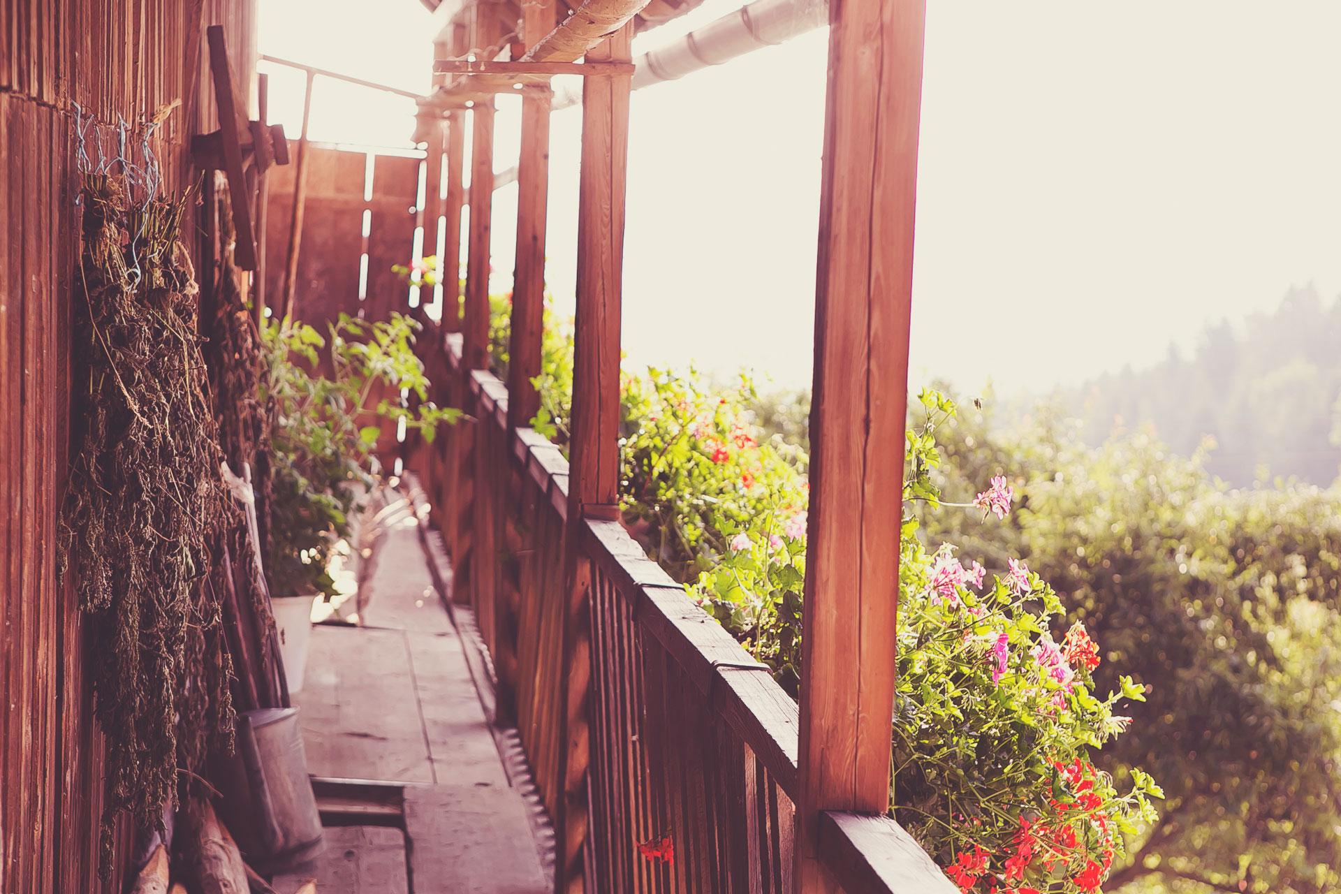 Balkon-Gallerie am Leitenbauernhof